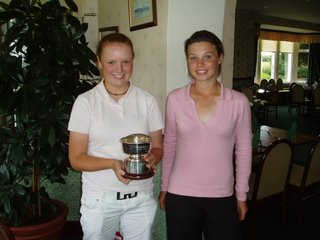 Eilidh Briggs (Junior Champion) and Lesley Cosh (Cowglen)- Click here for an enlargement