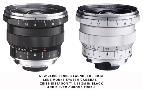 Carl Zeiss adds to Nikon F and M bayonet system lens range