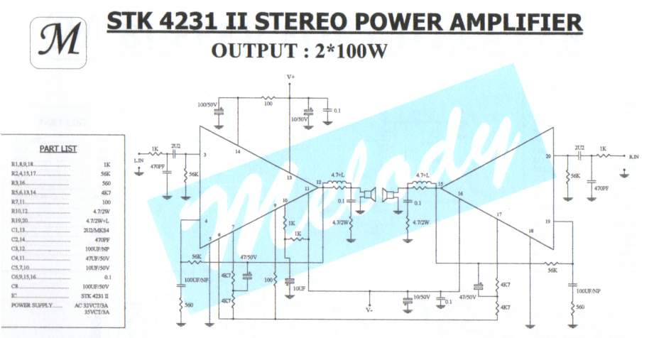 achievement stk4141 ii stereo amplifier circuitstk4141 ii stereo amplifier circuit power amps stk x100w stk4141 ii stereo amplifier circuit