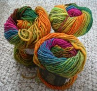 Rainbow yarn for a bag