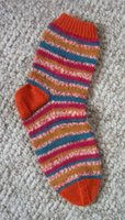 a brightly colored sock