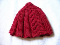 Cabled Baby Hat