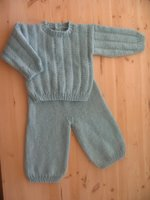 Finished Teal Layette