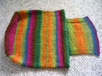 Handbag in Noro Kureyon knitted and ready to felt