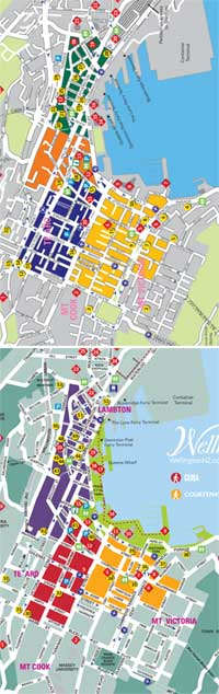 Comparing the old and new 'quarters' of downtown Wellington