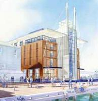 Queens Wharf Hilton - artist's rendering from south of Dockside