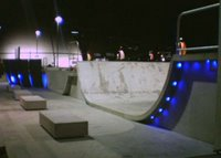 Waitangi Park skatepark after dark