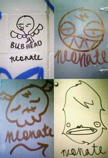 Montage of Wellington graffiti by 'neonate'