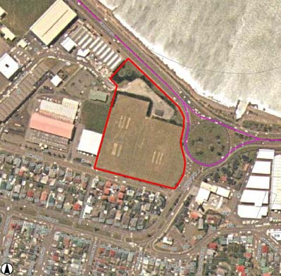 Site of the proposed Indoor Sports Stadium in Evans Bay