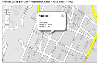 Willis St map on ZoomIn