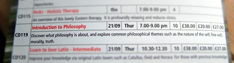 Introduction to Philosophy course