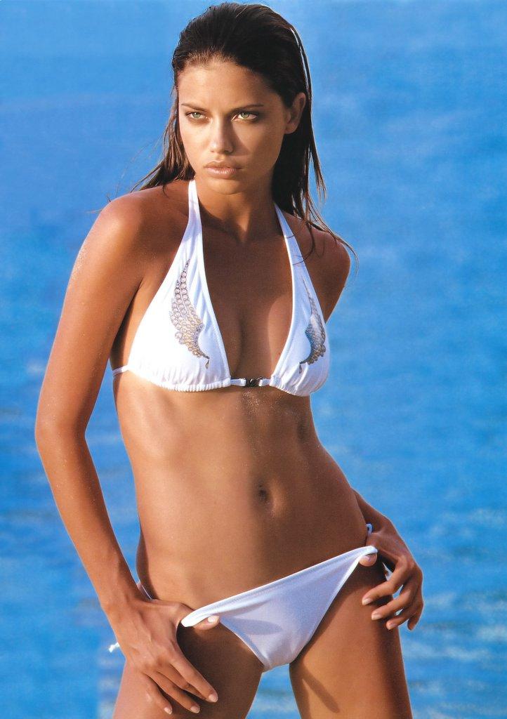 Adriana Lima White Bikini 121