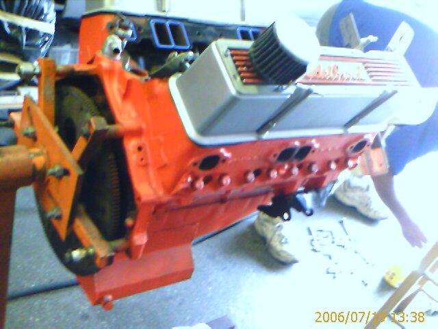 1969 Camaro RS: Engine -327 block 302 Pistons Fuelie Heads