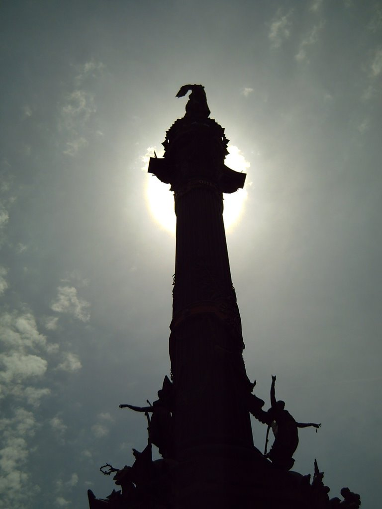 Columbus Monument in Barcelona: Silhouette