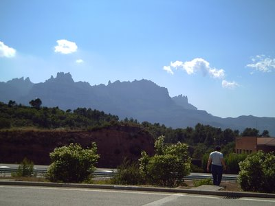 Monserrat Mountain: Barcelona Road Landscape