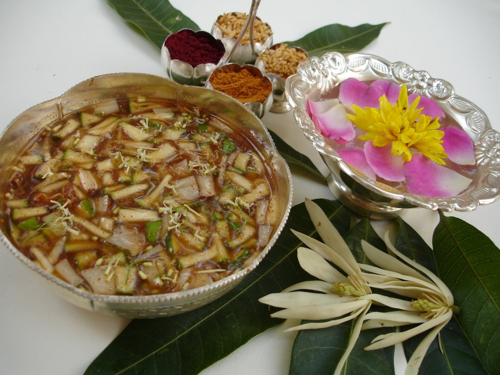 Ugadi to the Telugu speaking people marks a beginning of a new year in  which nature is in full bloom, symbolizing regeneration and celebrating the  season's ...