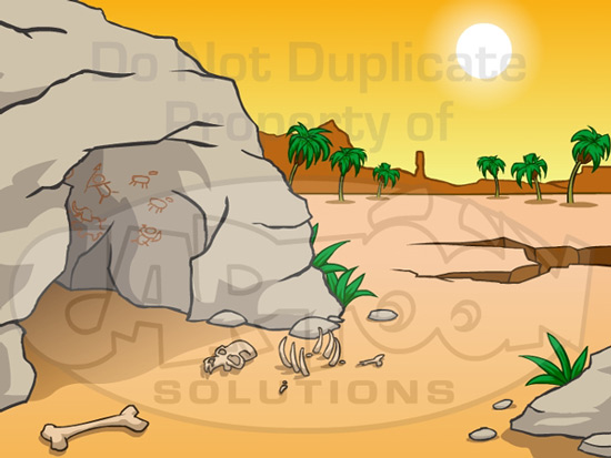 Marvelous Cartoon Solutions A Cavemans Home Home Interior And Landscaping Staixmapetitesourisinfo