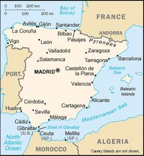 mapa das costas espanholas A C.I.A. volta a por Olivença na Lista (Em 16 05 2006) mapa das costas espanholas
