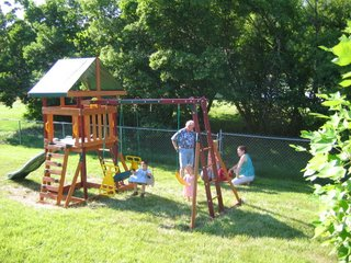 Wooden Swingset Playset Preping The Backyard Area