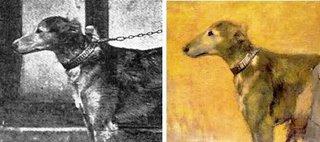 El Vizconde Lepic con sus hijas y su perro Albreckt