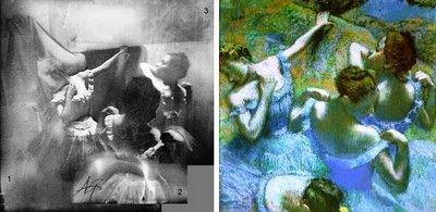Bailarinas detrás del escenario: montaje y cuadro