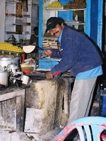Kapil making chapattis