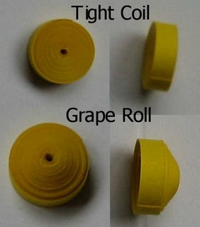 free quilling pattern grape roll