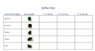 free quilling coil shapes guide