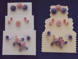quilled wedding cake free quilling pattern