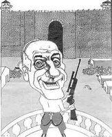 cartoonist likens olmert to nazi