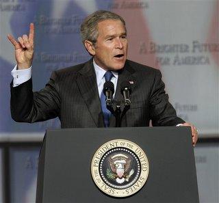 Bush Flashes Devil Sign (Again)
