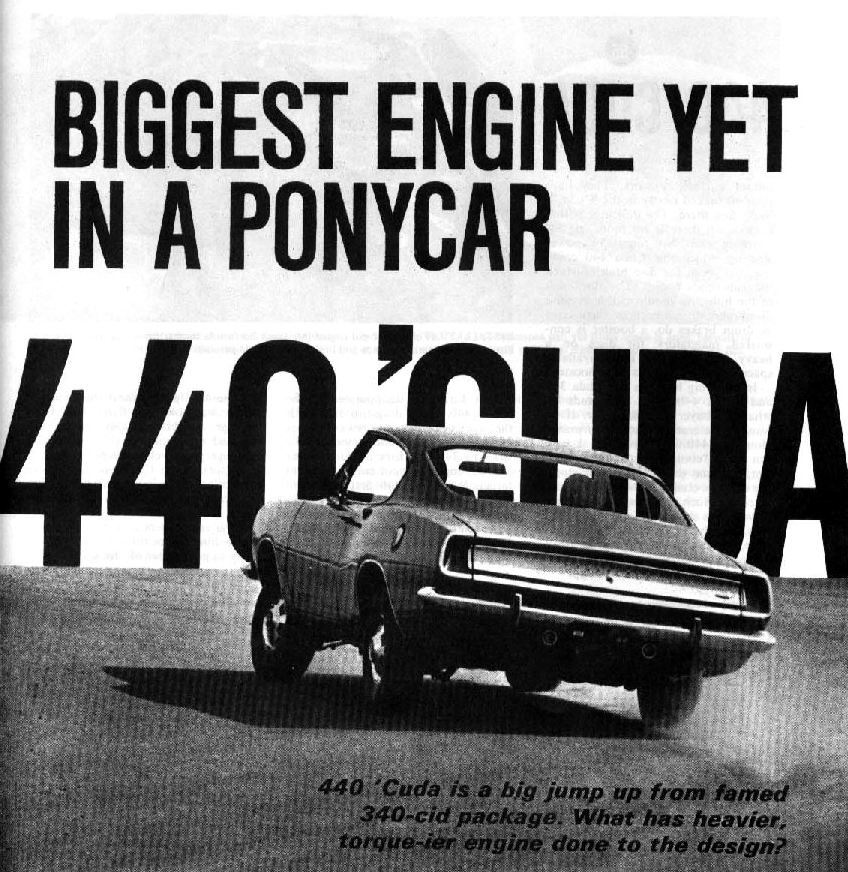 the formula-s garage: The A13 'Cuda 440 option