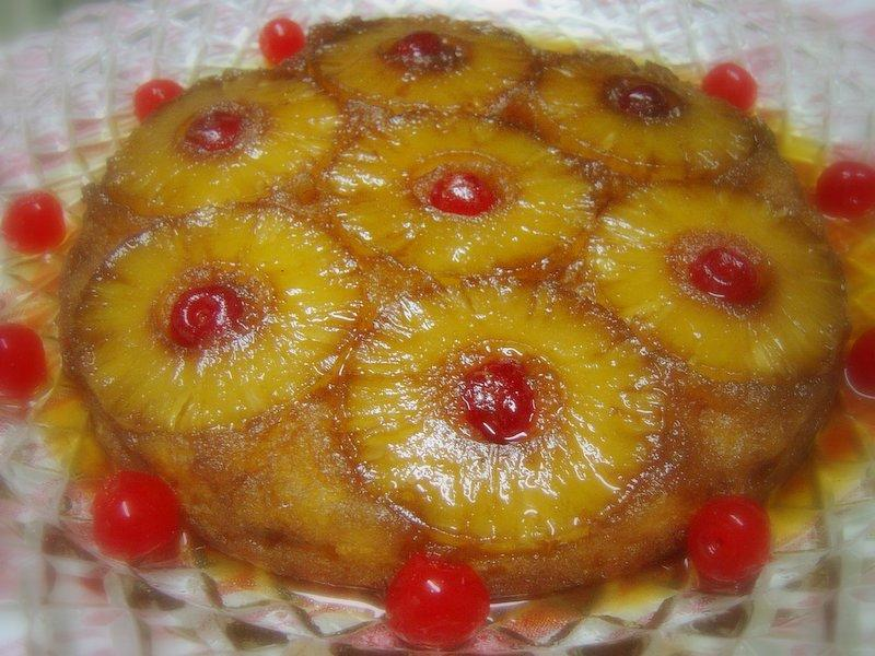 Virtual 40's-70's Party: Pineapple Upside-down Cake