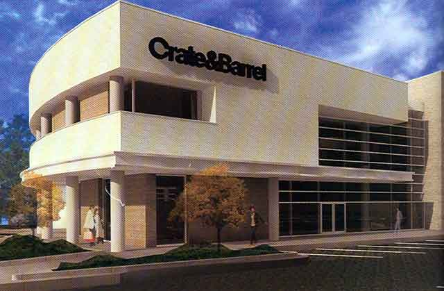 Crate Barrel The Village At Southpark Charlotte North Carolina Architect S Rendering Simon Property Group
