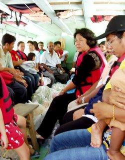 Inside the ferry to Koh Yao Noi
