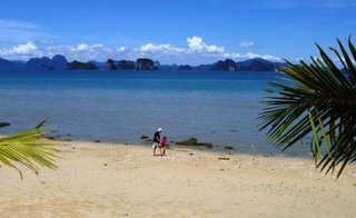 a walk on the beach, Koh Yao Noi