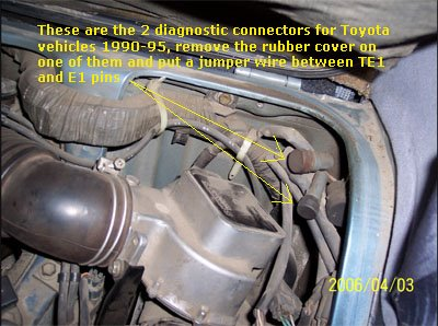 check engine light codes: april 2006 1990 toyota 4x4 engine wiring diag #13