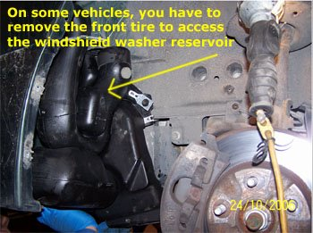Windshield Washer on 2002 Ford Windstar Engine Diagram