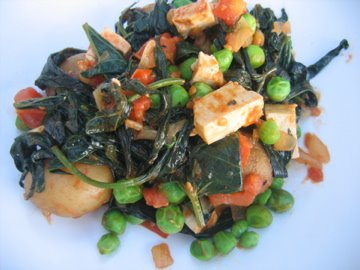 Albion Cooks African Stew With Sweet Potato Leaves