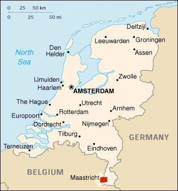 Map Of Holland And Germany.Maastricht Holland S Culture And Lifestyle City Travel And