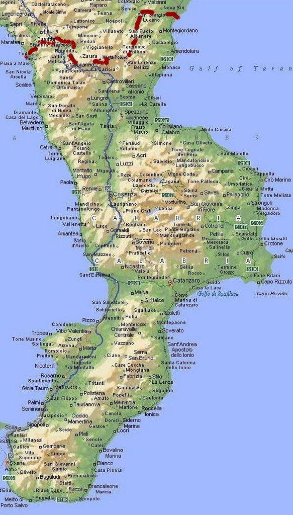 Cartina Geografica Cosenza E Provincia.La Calabria Ultra Escursioni Storico Culturali Calabria