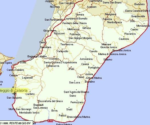 Cartina Geografica Calabria Dettagliata.La Calabria Ultra Escursioni Storico Culturali Calabria