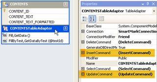 TableAdapter and Properties Window