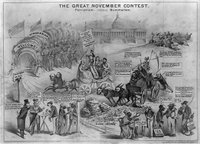The great November contest. Patriotism: versus Bummerism, Reproduction Number: LC-USZ62-7186, Library of Congress Prints and Photographs Division Washington, D.C. 20540 USA