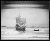 Thanksgiving Mayflower 1620, Library of Congress, Prints and Photographs Division, Detroit Publishing Company Collection