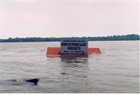Many busineses were closed during the flood like the one depicited in this photo of a Riverboat Ride Sign under water. .S. Department of the Interior, U.S. Geological Survey