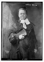 Carrie Nation, REPRODUCTION NUMBER: LC-DIG-ggbain-05640, Library of Congress Prints and Photographs Division.
