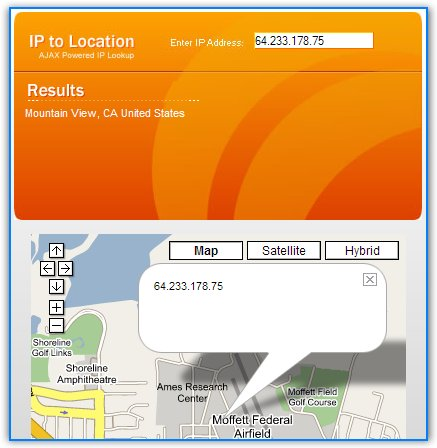 Find IP Location With Google Maps