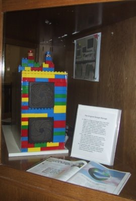 The original Google storage, created by Larry Page and Sergey Brin using Lego pieces