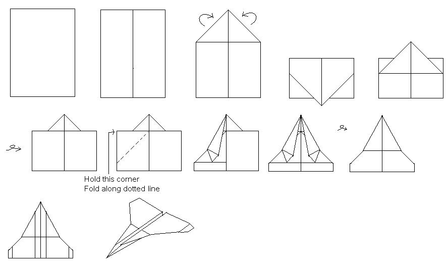 Fast Flying Paper Airplane